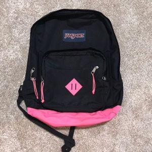 Ja sport black and pink backpack